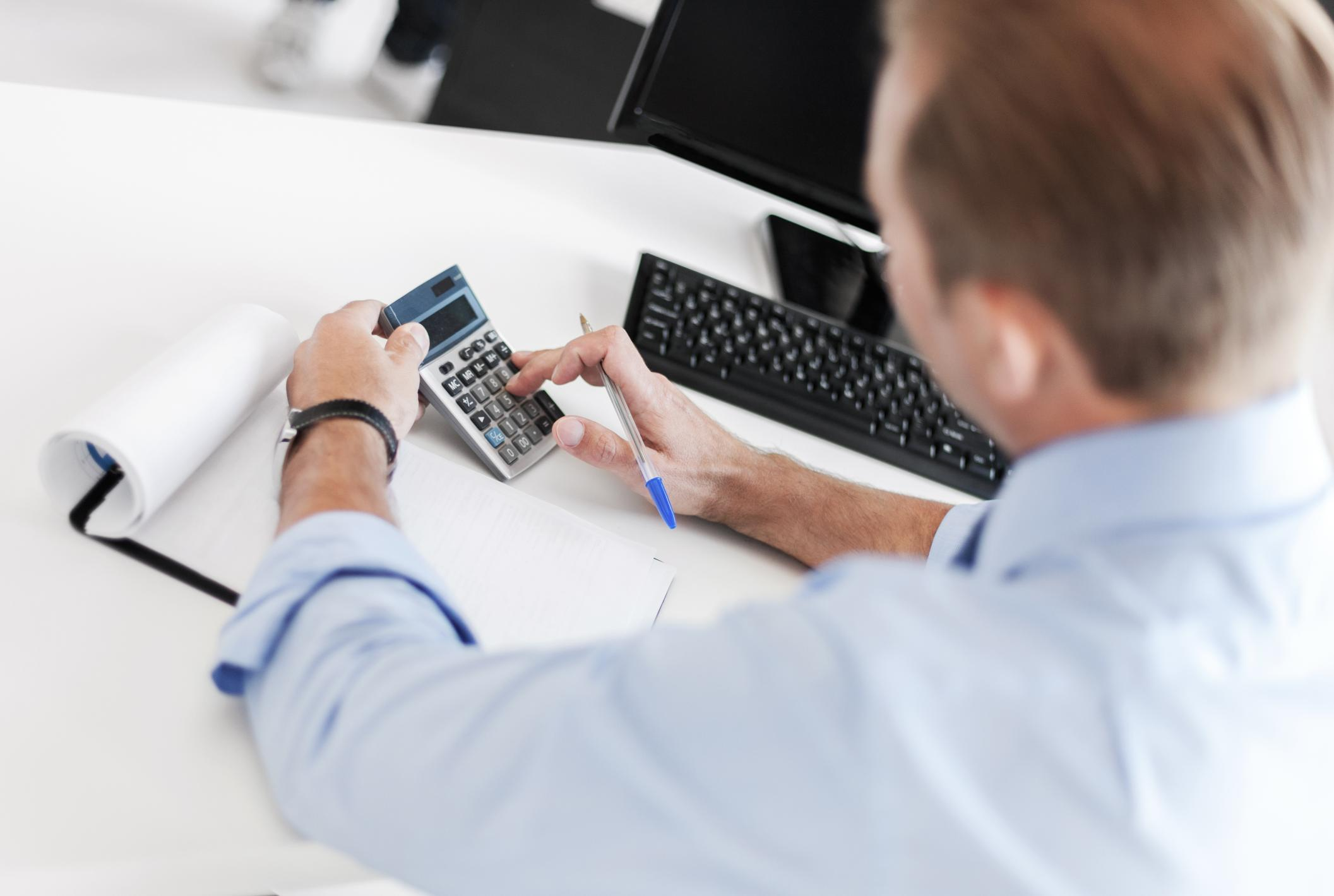 personal bookkeeping at Arlington bookkeeping using a calculator